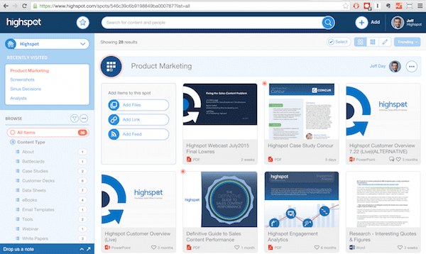 Highspot - 12 Sales Enablement Tools To Empower Your Sales Team