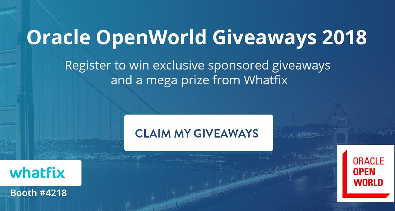 oracle openworld whatfix