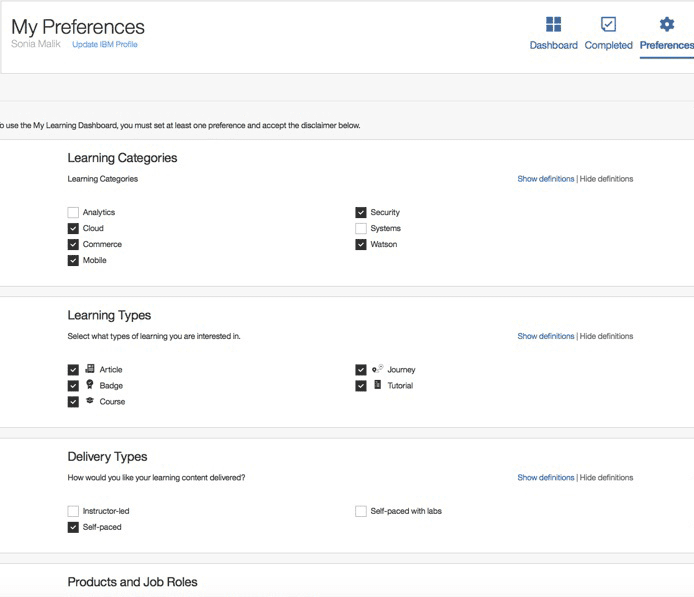 IBM Microlearning : Microlearning examples