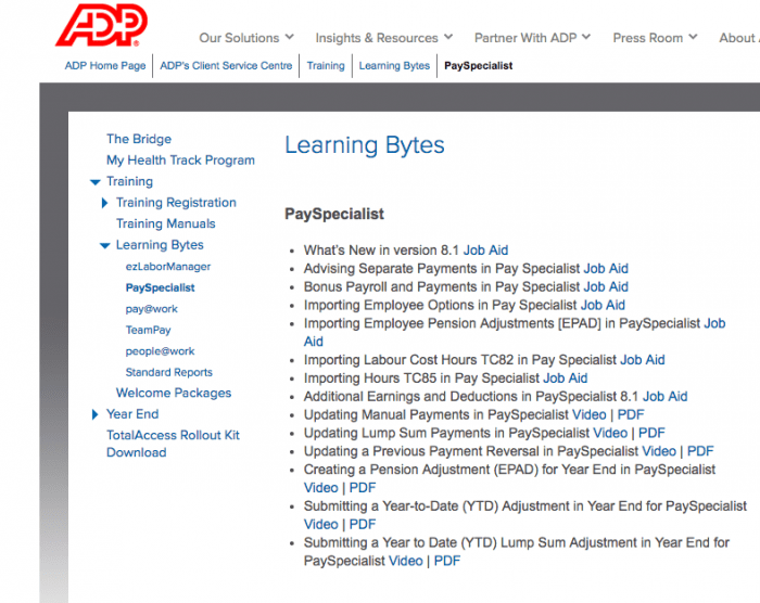 ADP Learning Bytes: Microlearning examples