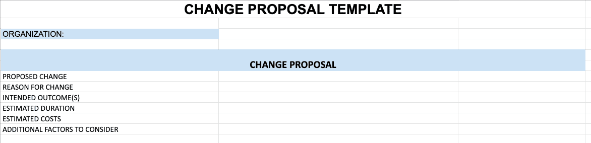 6 Essential Change Management Plan Template