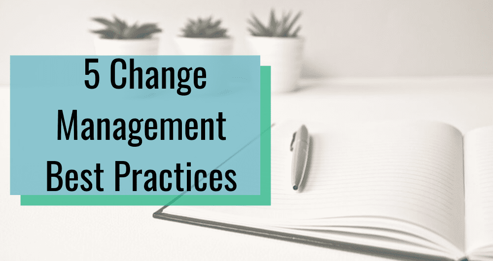change management best practices