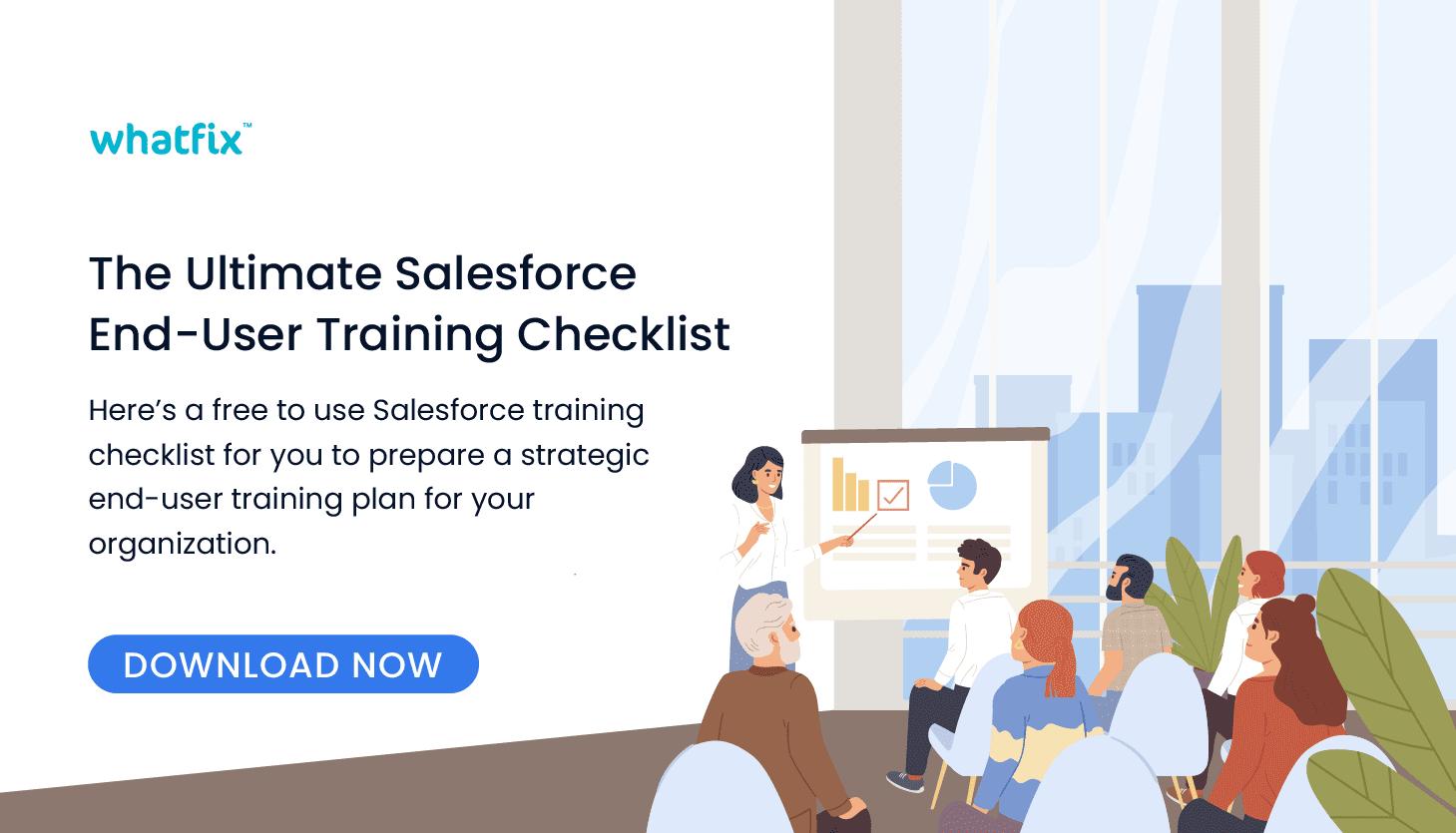 Salesforce training checklist