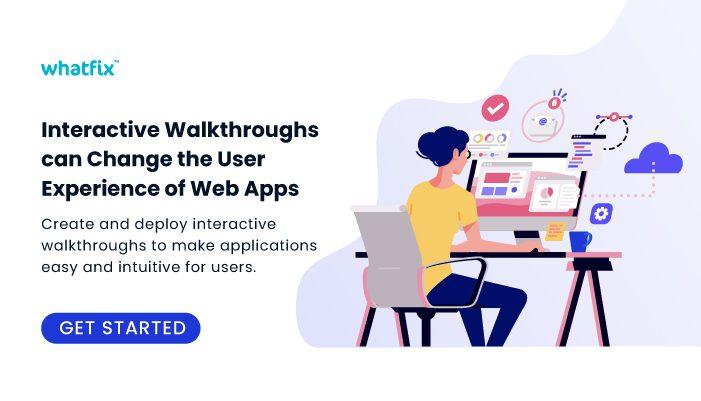 Whatfix training via Walkthroughs