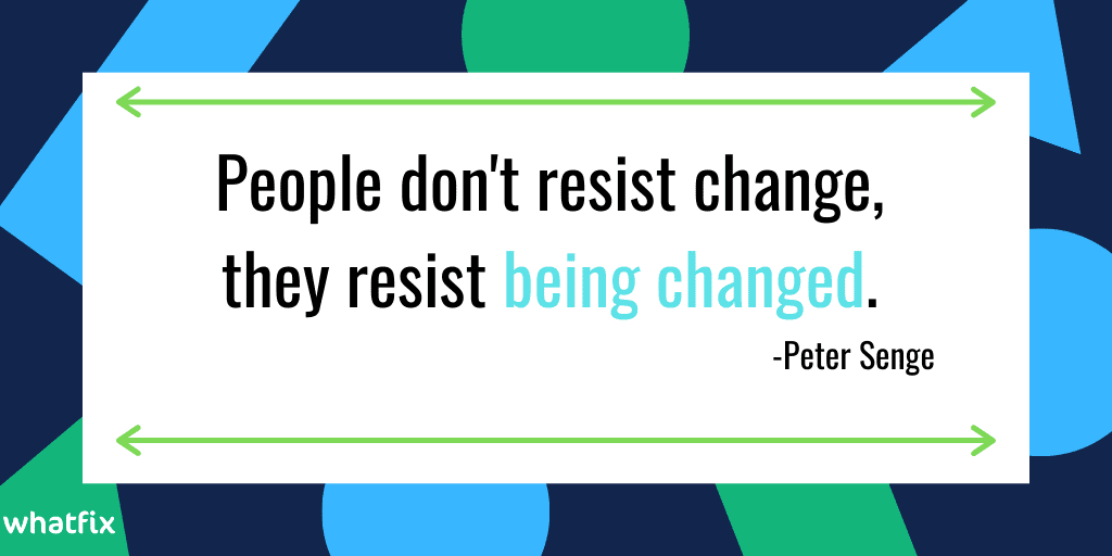 change management- peter senge quote