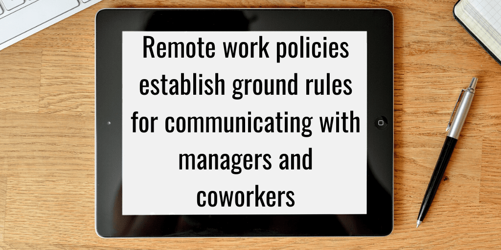remote work policies - ground rules