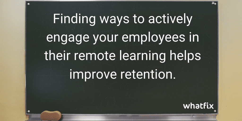 remote learning strategies - employee engagement