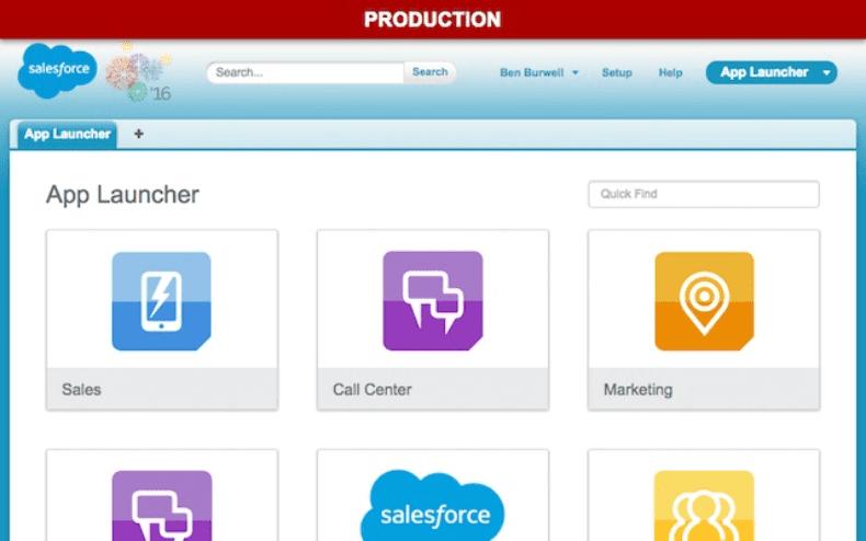 Org Header for Salesforce