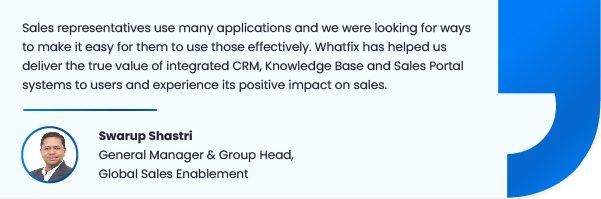 Whatfix DAP improves sales productivity