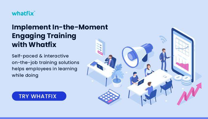 Whatfix on-demand training