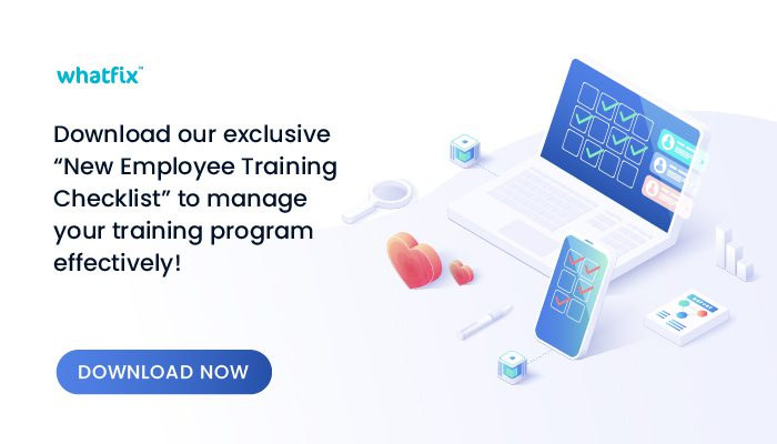 new employee training checklist download