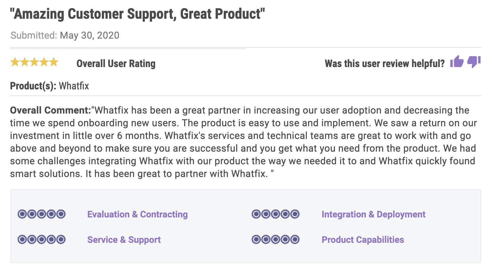 Gartner Review- Whatfix