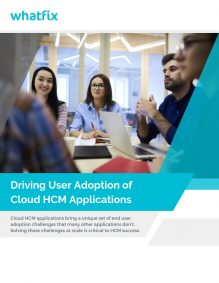 HCM application adoption