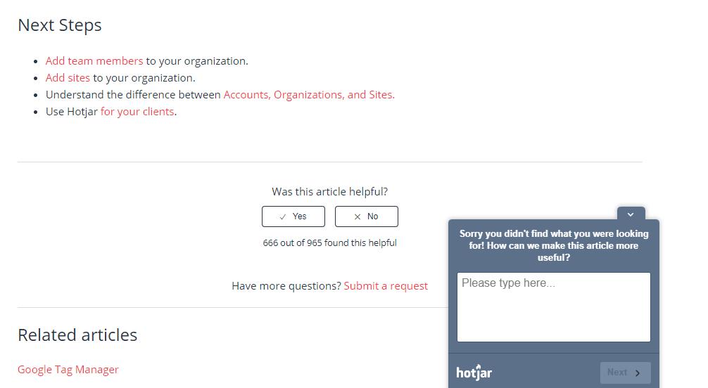 hotjar-user-feedback-widget-example