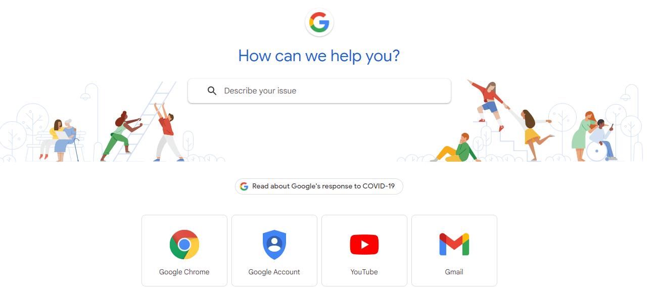 google-user-help-center-example